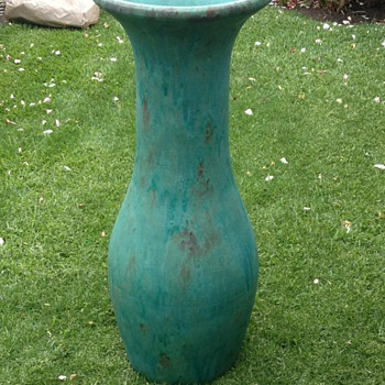 Large Floor Vase Circa 1930 Mystery!