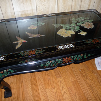 Chinese table mother of pearl from Gospel Thrift store