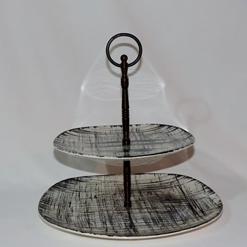 Ebonette K 1007 2 Tiered Serving Tray by Edwin Knowles