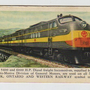 New York, Ontario and Western 1953 Pocket Calendar - Railroadiana