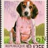 "1998 - Benin ""Beagle"" Postage Stamp"