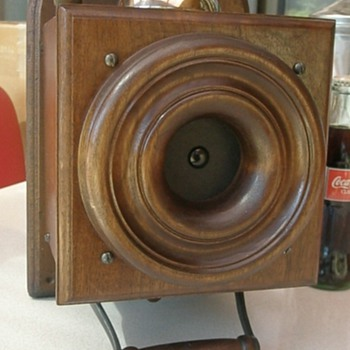 Walnut Mechanical Telephone, But Has Been Called a String Telephone - Telephones