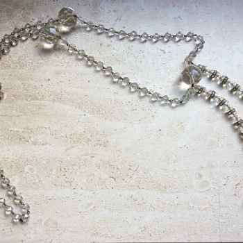 Clear glass art deco flapper necklace