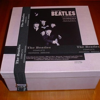 The Beatles Complete Recording Sessions Anthology Box Set  62 CD's / 10 DVD's 205 Page Booklet - Music Memorabilia