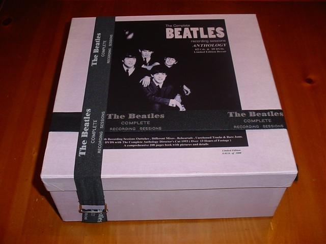 the beatles complete recording sessions anthology box set 62 cd 39 s 10 dvd 39 s 205 page booklet. Black Bedroom Furniture Sets. Home Design Ideas