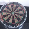 homemade dart board  table with fibre optic lights threw it