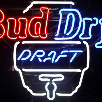Bud Dry Draft neon sign - Signs