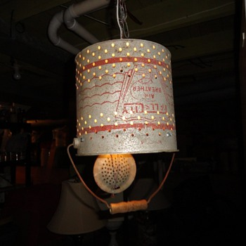 Galvanized Minnow Bucket Hanging Light. - Fishing