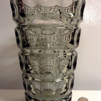 1960's Sklo Union Czech Glass Vase