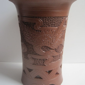Chinese Yixing Hand Thrown Sculpture Vase