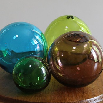 Japanese glass fishing floats - Fishing