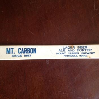 Mount Carbon Brewery Foam Scraper - Breweriana