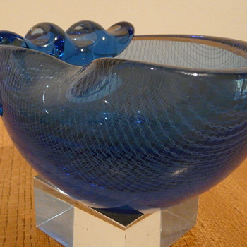 HARRACHOV BOWL MILAN METELK MERLETTO  - Art Glass