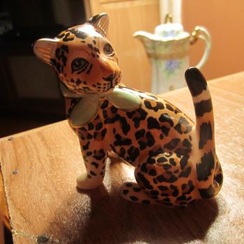 "Lynn Chase Designs Baby Jaguar Jungle Figurine 3-1/4"" - Animals"