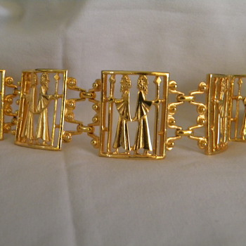 Vintage Vendome Kings Panel Bracelet