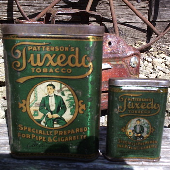Patterson's Tuxedo Tobacco Tins - Early 1900's