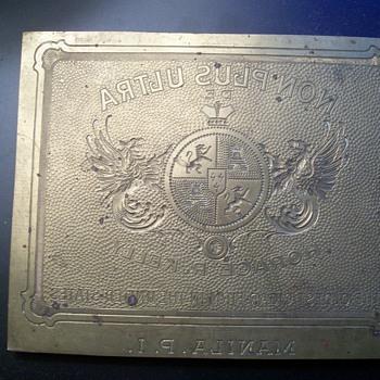 Cigar Label Printing Plate Manila