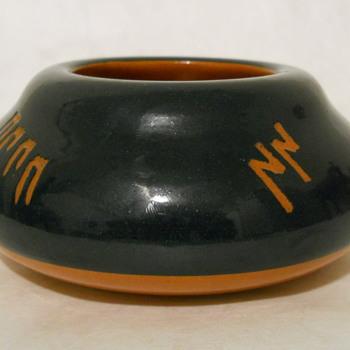 Five Symbol Blue Bowl - Pottery
