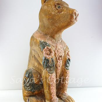 Unique  Handcarved Dog Statue.