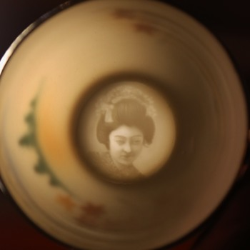 Geisha in the bottom of a teacup! - Asian