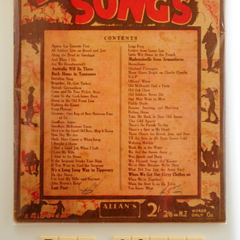 An Album of digger songs [music] : Songs the diggers sang.  - Military and Wartime