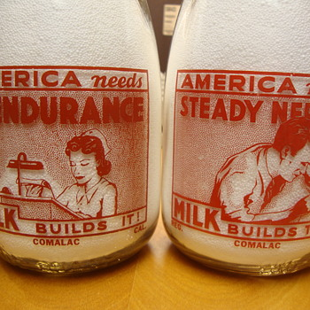Comalac Dairy from California supported the war effort........