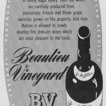 1950 Beaulieu Wine Advertisement - Advertising