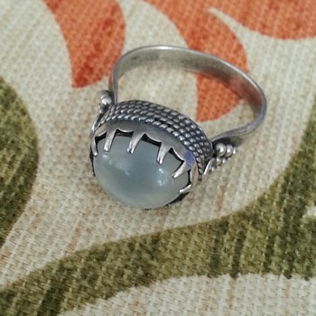 "SILVER? STONE RING WITH MARK ''NEED YOUR HELP ID"" - Fine Jewelry"