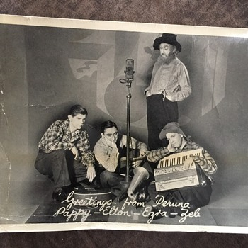1936 CALENDAR & OLD PHOTOGRAPH OF MOUNTAIN BAND ?????  PERUNA - Paper