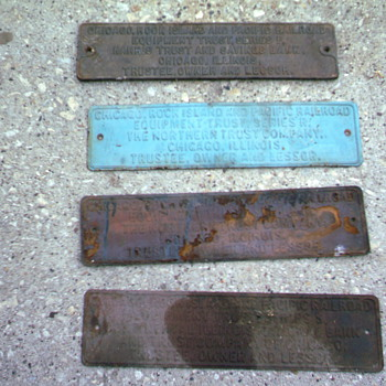 train car plates - Signs