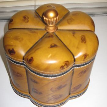 Wooden Box with leather trim