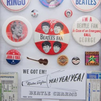 Beatles pins...