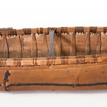 birch bark canoe models, old and new
