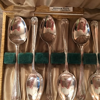 Rhodium Plated Tea Spoons circa 1926?