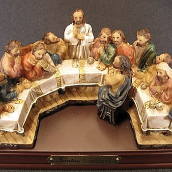 Santini Resin Sculpture, Last Supper, DETAIL