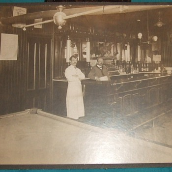 Early 20th century bar and billiards hall - Photographs