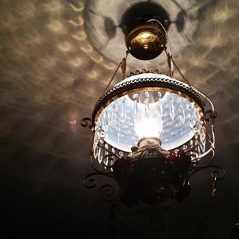 1892 The Miller hanging oil lamp