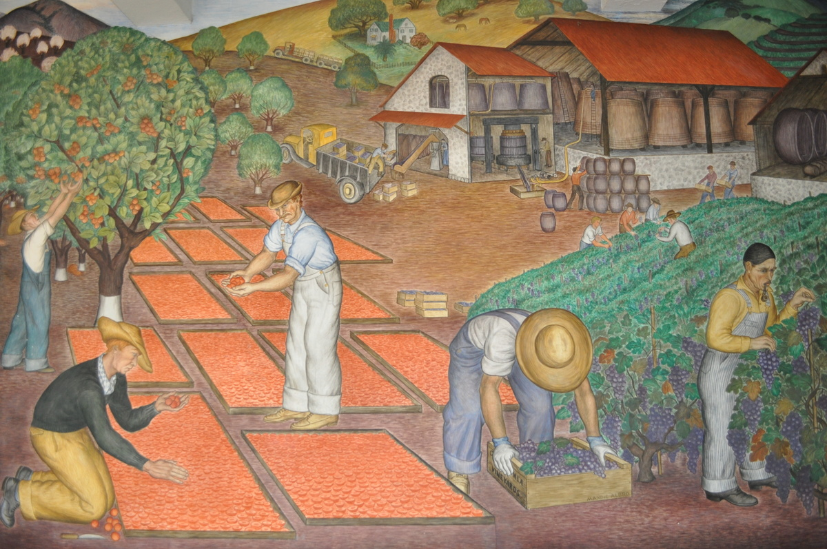 Coit tower mural collectors weekly for Coit tower mural