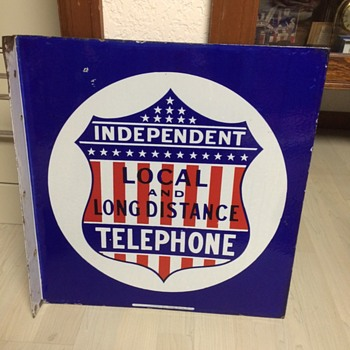 Red, White, Blue Independent Telephone Sign