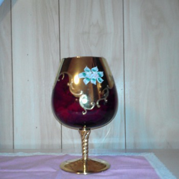 I need help finding out info on this goblet. it looks handmade   - China and Dinnerware