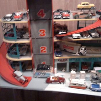 Sears parking garage worked well with 1/43 cars both old and new... - Model Cars