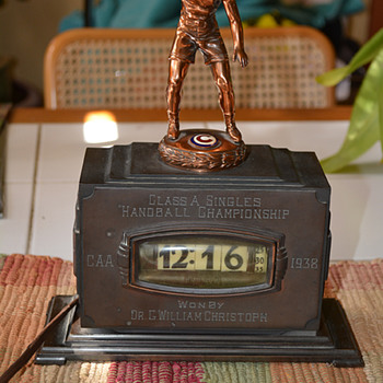 1938 Pennwood Bronze, Chicago Athletic Assoc. Handball Trophy - Art Deco