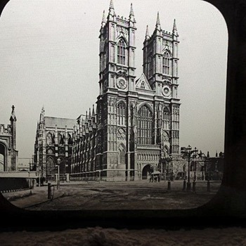 1800's Glass Photo Slide - Various Locations