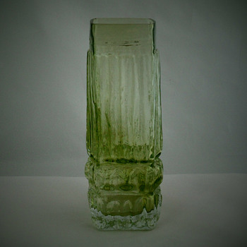 Textured vase which I believe is Scandinavian - Glassware