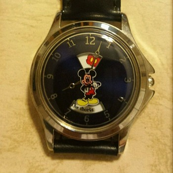 Mickey Shorts on Disk Watch - Wristwatches