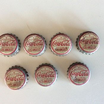 L.A. Coca Cola bottle caps
