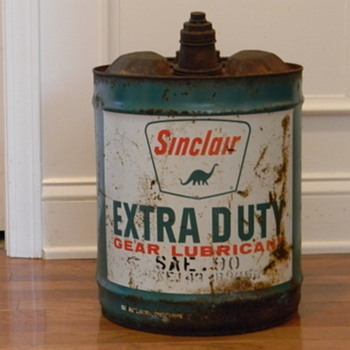 Vintage Sinclair Oil Lube 5 gallon can - Petroliana