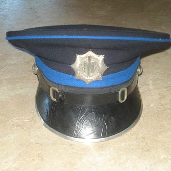 1960-80s Dutch police cap. Voorburgse Gemeente-rijks politie