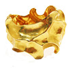 Vintage Heavy Modernist Hinged Matte Gold Bracelet