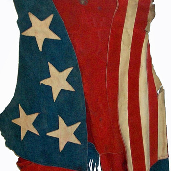 #3 ~ 1969 Woodstock Worn Suede Stars & Stripes Vest + #4